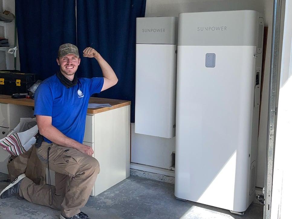 SunVault 13 kWh Installation